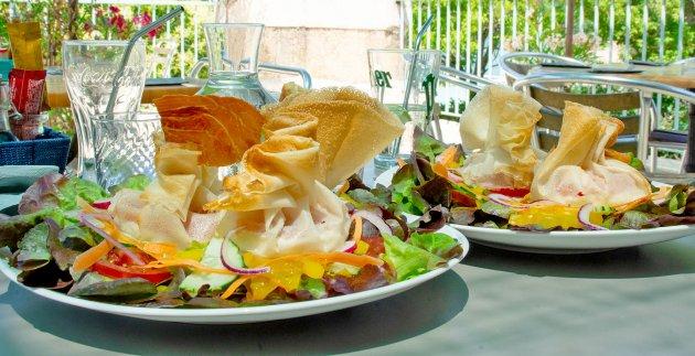 salade au restaurant du petit lac